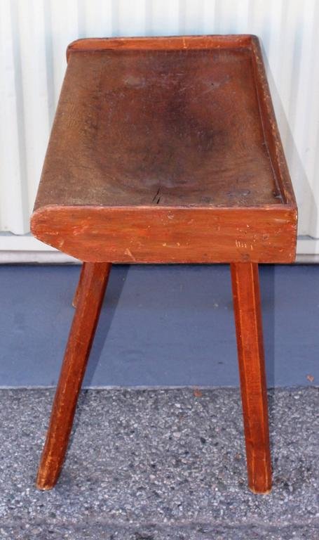 19th Century Butcher Block Side Table For Sale At 1stdibs