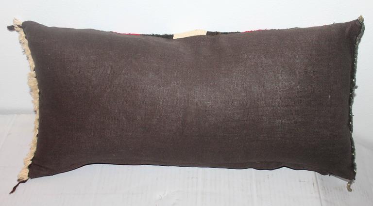 Adirondack Navajo Indian Weaving Lumbard Pillow For Sale