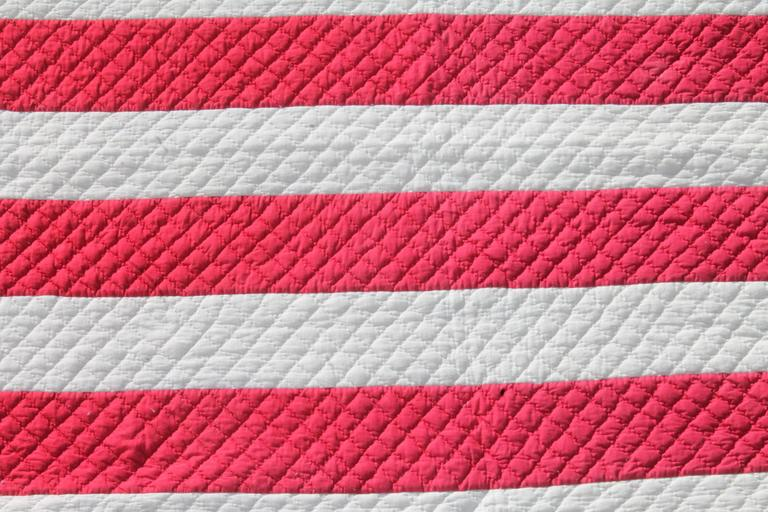 Patriotic Red, White and Blue Bars Quilt 3