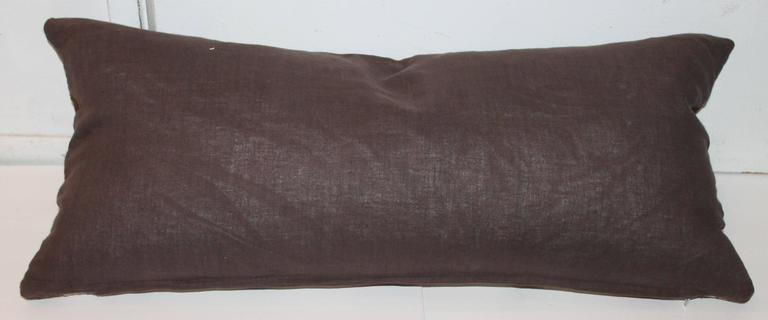 Hand-Woven Navajo Indian Weaving Bolster Pillow For Sale