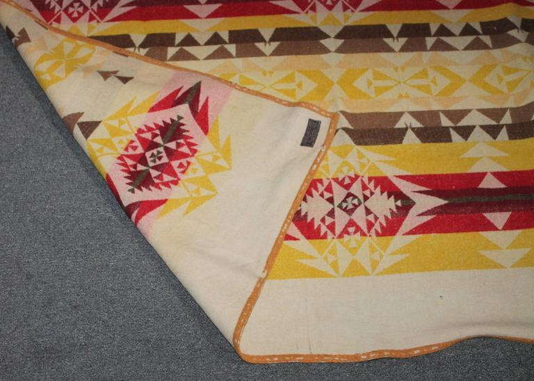 Adirondack Pendleton Cayuse Indian Blanket, Dated 1909 For Sale