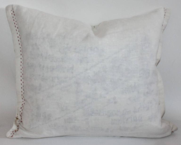 Vintage Patriotic Hand Sewn Flag Pillow 8