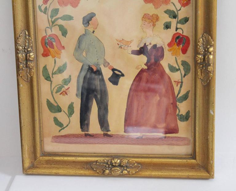 Country 19th Century Hand-Painted Pennsylvania Froctor For Sale