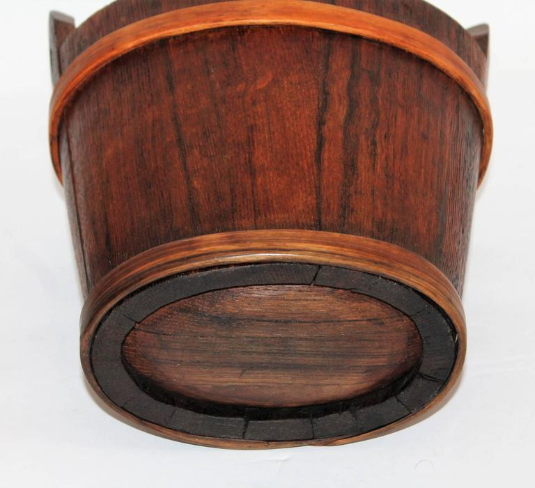 Hand-Carved 19th Century Double Handed Bucket 5