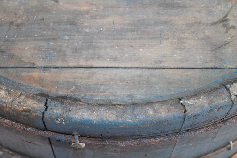 19th Century Original Blue Painted Double Handled Tub 8