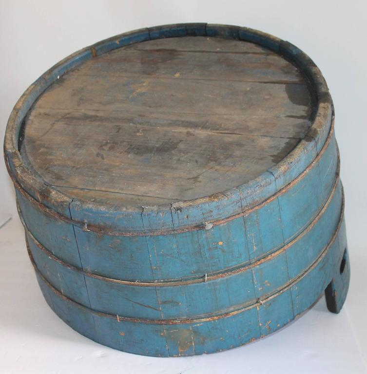 19th Century Original Blue Painted Double Handled Tub 6