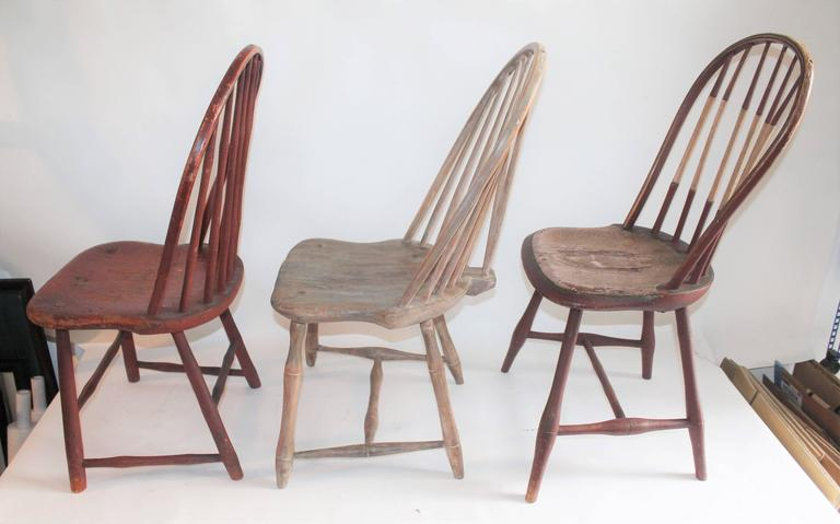 Awe Inspiring Collection Of Three Original Painted Windsor Chairs At 1Stdibs Pdpeps Interior Chair Design Pdpepsorg