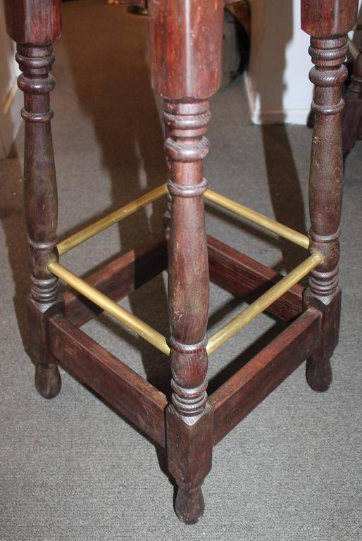 20th Century Set of Four Early 1900s Bar Stools from Philadelphia, Pennsylvania For Sale
