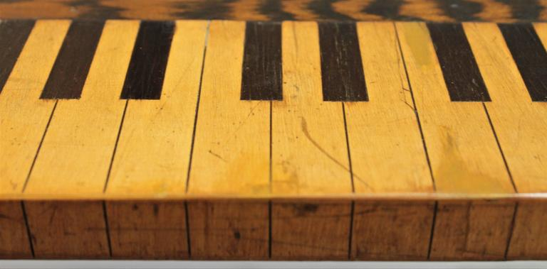American Folk Art Piano Jazz Table, Dated 1883 For Sale