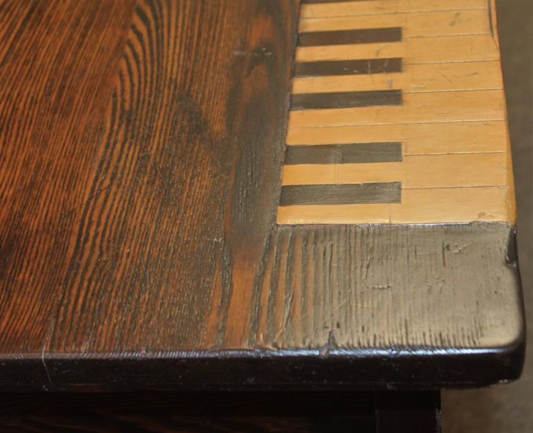 Folk Art Piano Jazz Table, Dated 1883 In Excellent Condition For Sale In Los Angeles, CA