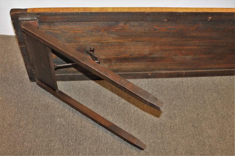 Folk Art Piano Jazz Table, Dated 1883 For Sale 1