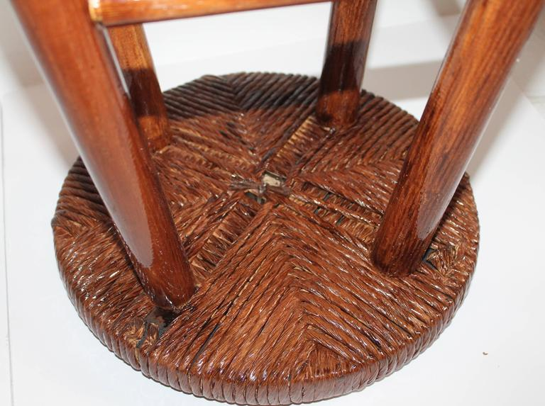 20th Century Pair of Rustic Handmade Bar Stools For Sale