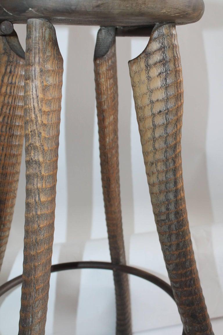 Folky Handmade Industrial Looking Bar Stool 5