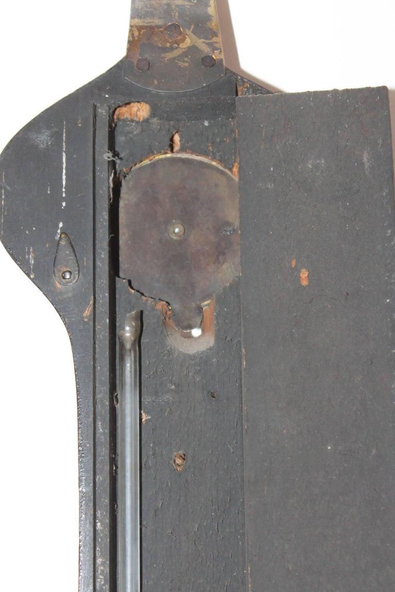 19Thc Wheel or Banjo Barometer For Sale 2