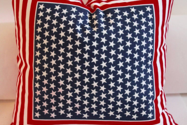 American Bandana Patriotic Flag Pillow 2