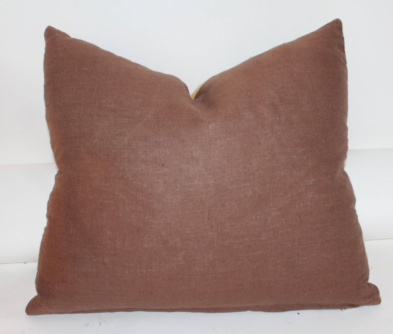 Hand-Crafted Collection of Four 19th Century Horse Blanket Pillows For Sale