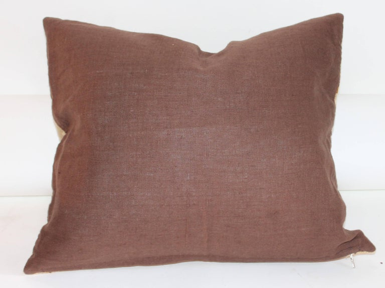 Collection of Four 19th Century Horse Blanket Pillows In Good Condition For Sale In Los Angeles, CA