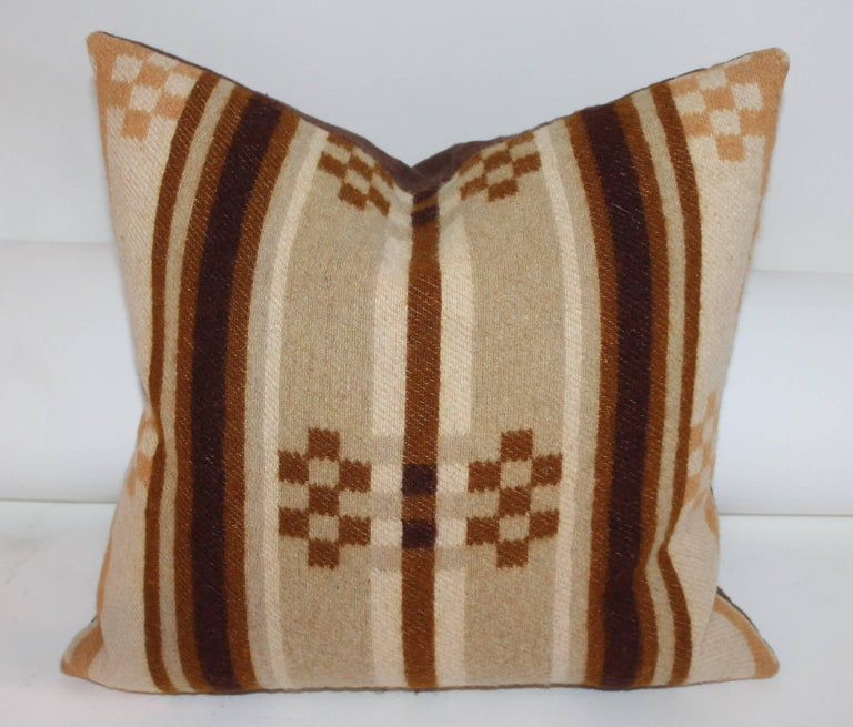 Collection of Four 19th Century Horse Blanket Pillows For Sale 1