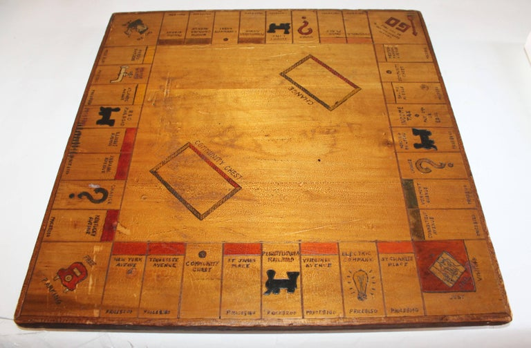 Game Board Folky Handmade Monopoly Board 1930s At 1stdibs