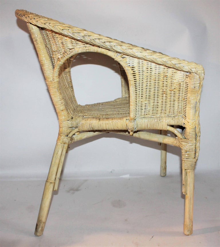Bar Harbor Painted Wicker Chairs/Pair 7