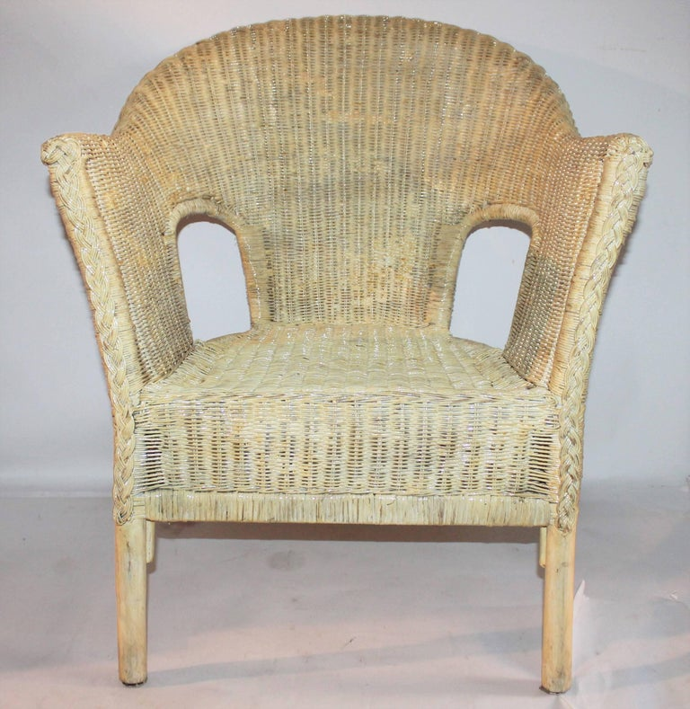 Bar Harbor Painted Wicker Chairs/Pair 3
