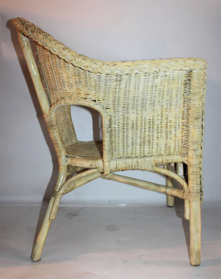 Bar Harbor Painted Wicker Chairs/Pair 8