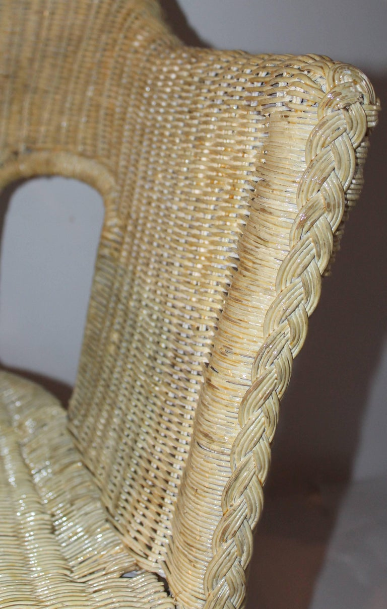Bar Harbor Painted Wicker Chairs/Pair 5