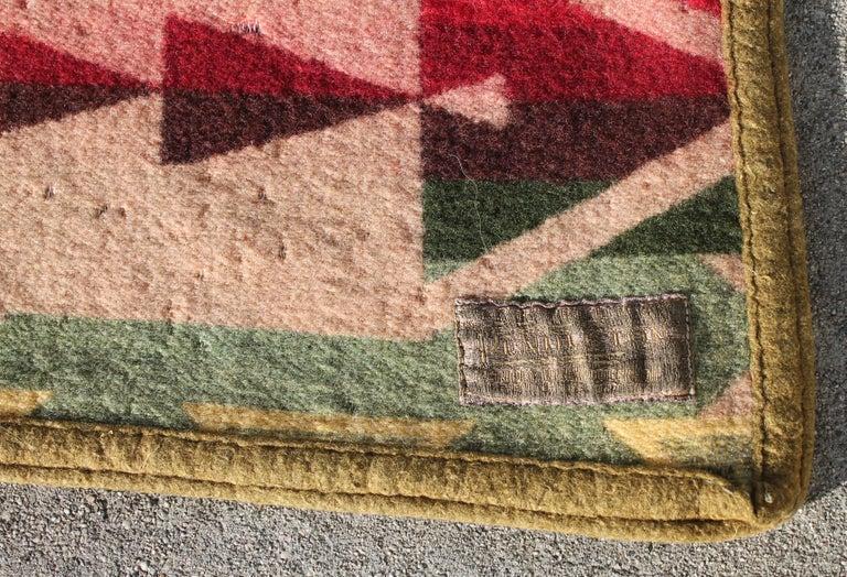 Machine-Made Pendleton Crib Indian Camp Blanket For Sale