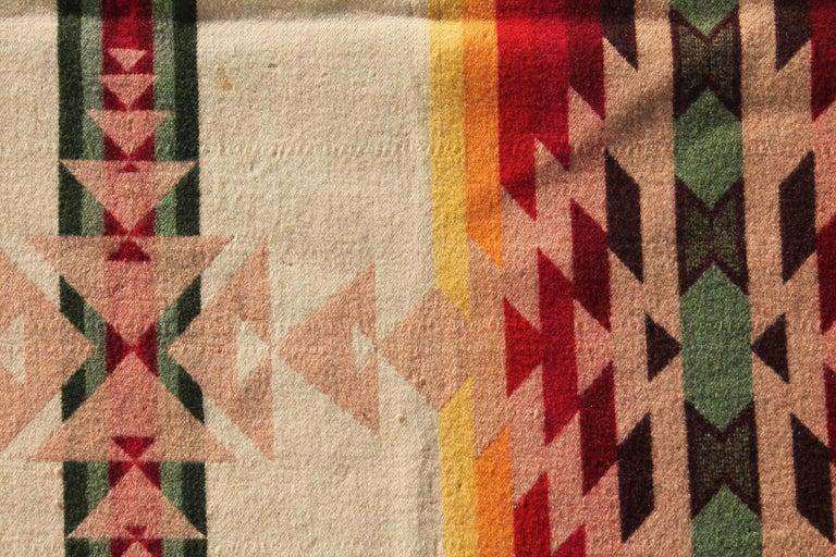 20th Century Pendleton Crib Indian Camp Blanket For Sale