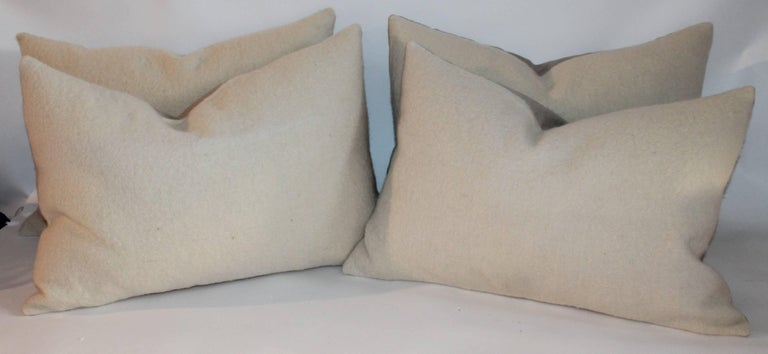 These mohair plain and simple soft pillows are in pristine condition. Sold in pairs and two pairs in stock.