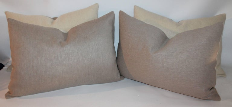 Hand-Crafted Mohair Bolster Pillows, Pair For Sale