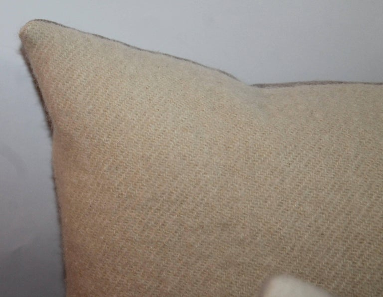 American Classical Mohair Bolster Pillows, Pair For Sale