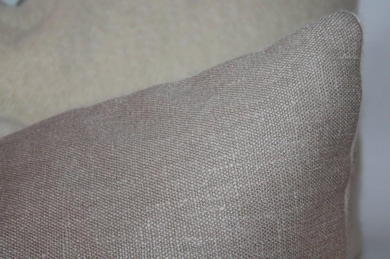 Mohair Bolster Pillows, Pair In Excellent Condition For Sale In Los Angeles, CA