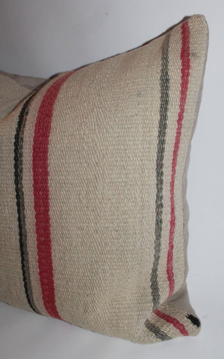 Early Navajo Indian Weaving Saddle Blanket Pillows 9
