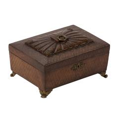 Leather Decorative Box from 1820s England