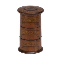 Three-Tiered Wooden Spice Tower from Mid-19th Century England