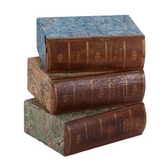 Three Brown Book Boxes from England Circa 1900