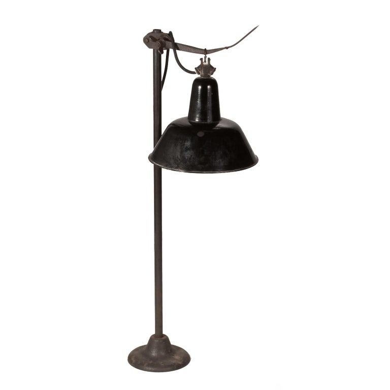 A Big Metal Swinging Industrial Light. For Sale At 1stdibs