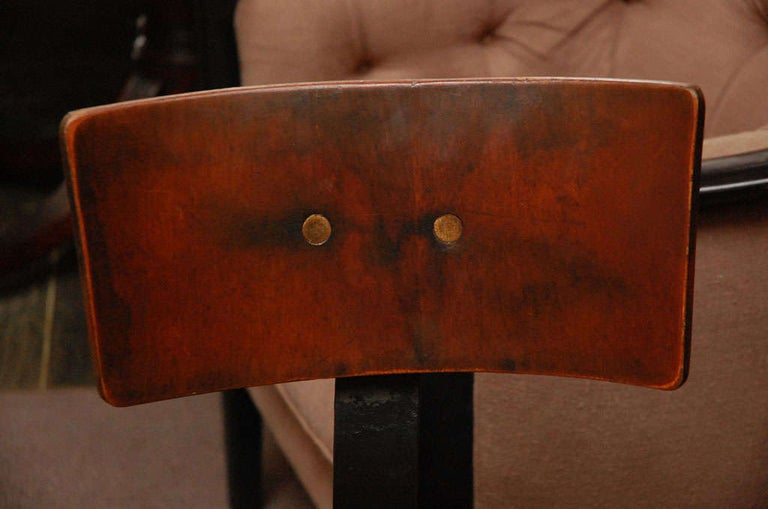 Wood and Iron Base Swivel Desk Chairs from Late 19th Century France 1