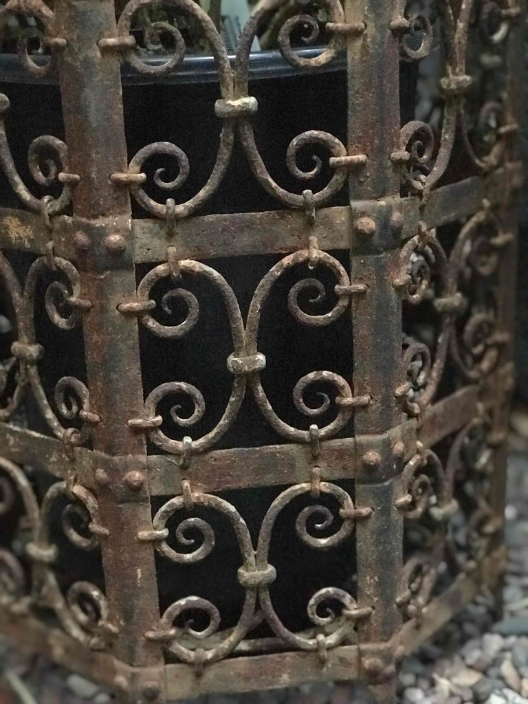 French 19th Century Decorative Iron Jardinière from France  For Sale