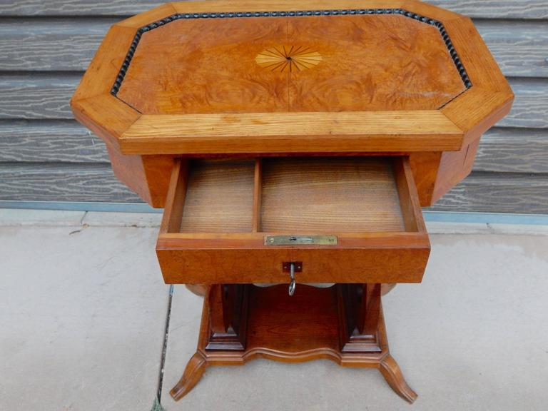 Swedish Art Deco Biedermeier Revival Lyre Table, circa 1920 For Sale 3