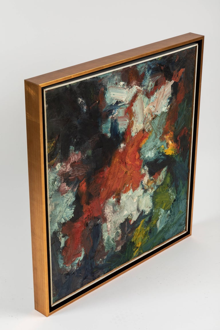 Framed Modern Abstract Oil Painting by Stevan Kissel For Sale 1