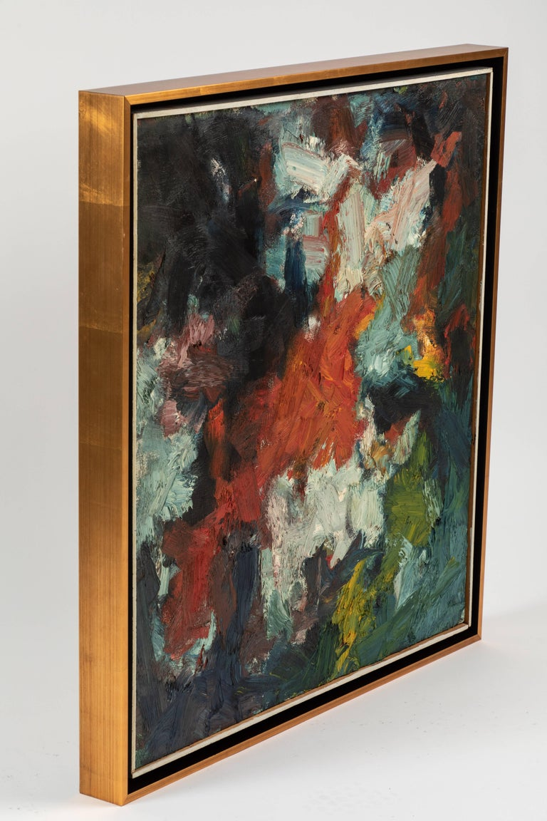 Framed Modern Abstract Oil Painting by Stevan Kissel For Sale 2