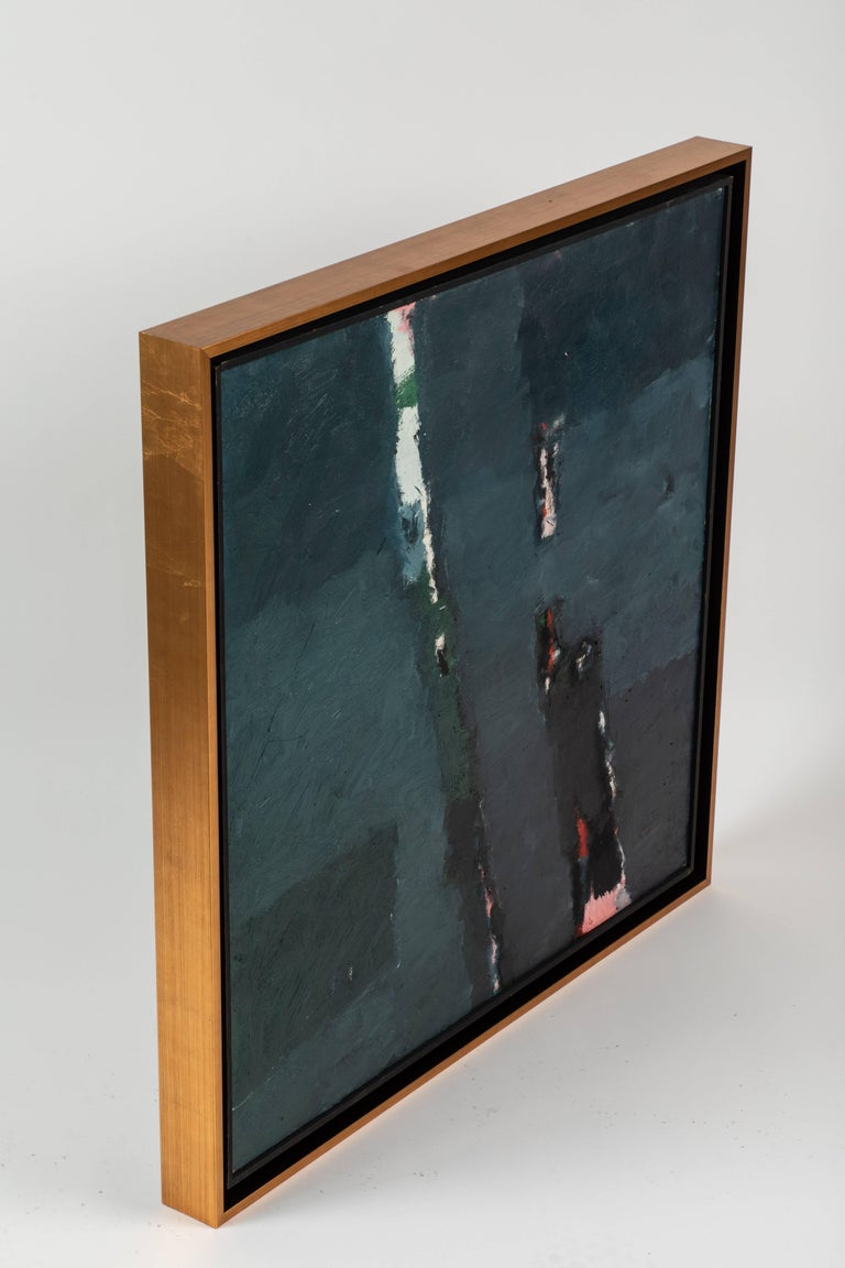 Mid-20th Century Framed Modern Abstract Oil Painting by Stevan Kissel For Sale