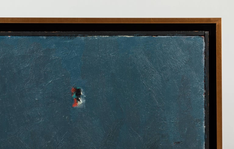 Gilt Framed Modern Abstract Oil Painting by Stevan Kissel For Sale