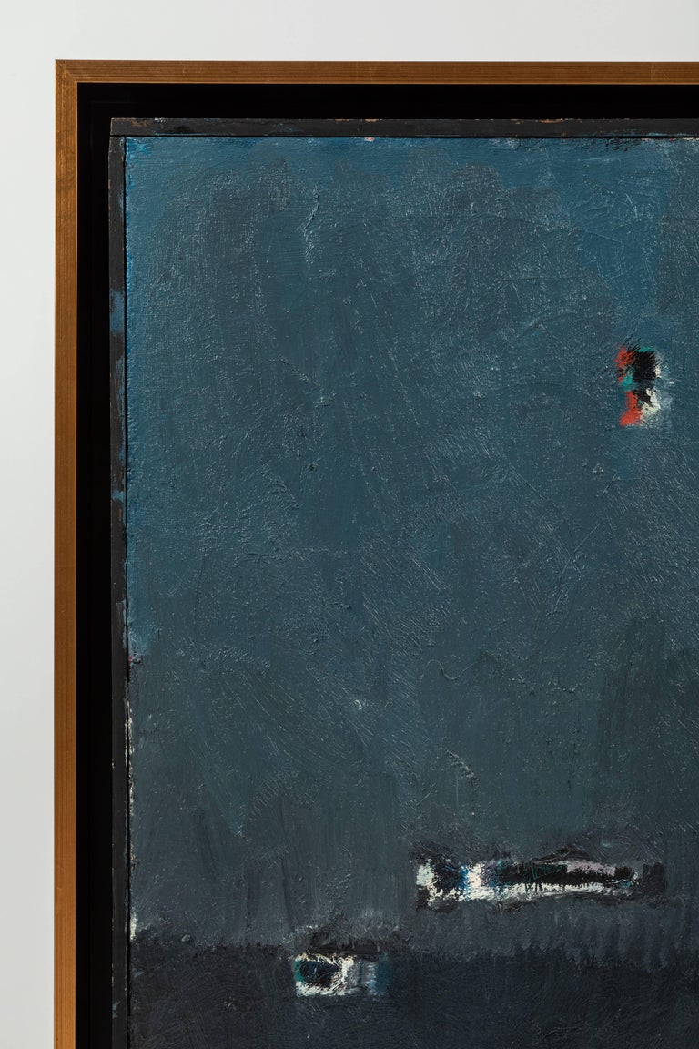 20th Century Framed Modern Abstract Oil Painting by Stevan Kissel For Sale