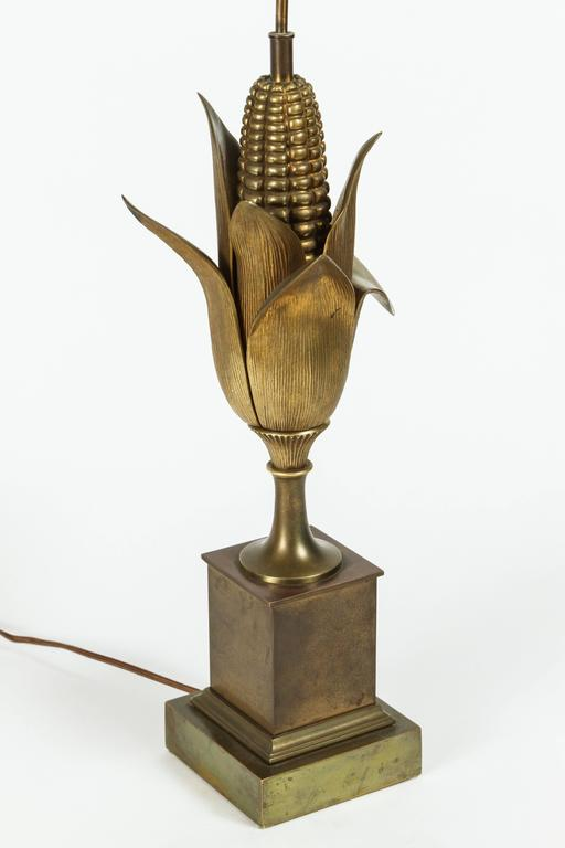 Cast Bronze Quot Ear Of Corn Quot Table Lamp By Maison Charles At 1stdibs