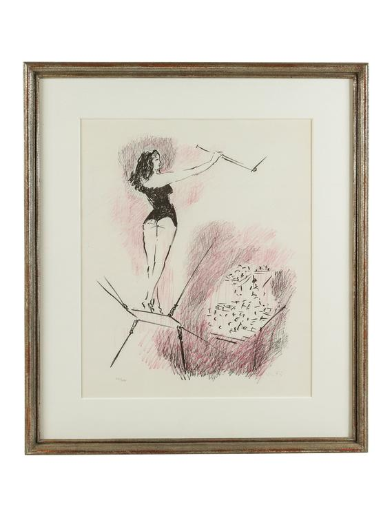 French Series of Circus Girl Lithographs by Marcel Vertes For Sale