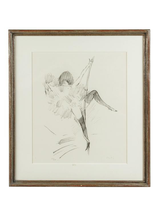 20th Century Series of Circus Girl Lithographs by Marcel Vertes For Sale