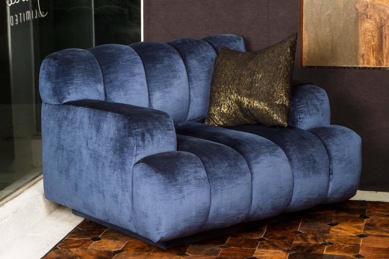American Channel Quilted Sofa and Chair by Steve Chase